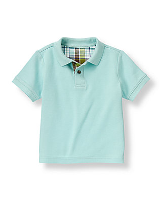 Boys Light Blue Polo Shirt at JanieandJack