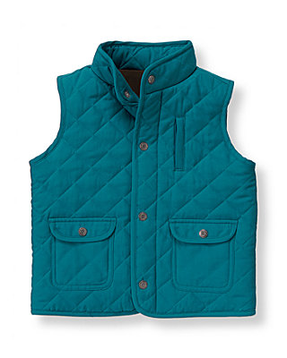 Blue Stone Quilted Barn Vest at JanieandJack