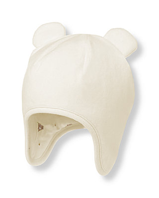 Jet Ivory Bear Ear Velour Hat at JanieandJack