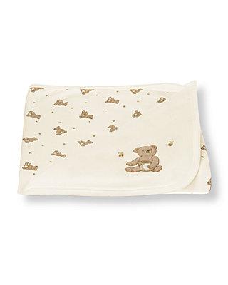 Jet Ivory Honey Bear Blanket at JanieandJack