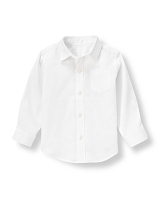 Pure White Diamond Dress Shirt at JanieandJack
