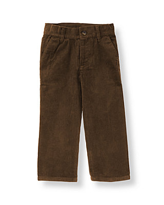 Boys Dark Brown Corduroy Pant at JanieandJack