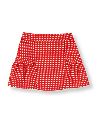 Metropolitan Red Dot Button Dot Wool Blend Skirt at JanieandJack