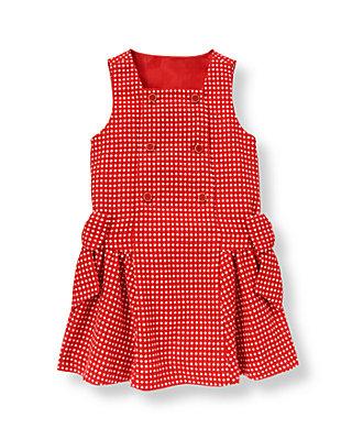 Metropolitan Red Dot Button Dot Wool Blend Jumper at JanieandJack