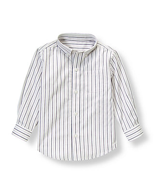 Purple Sapphire Stripe Dobby Stripe Dress Shirt at JanieandJack