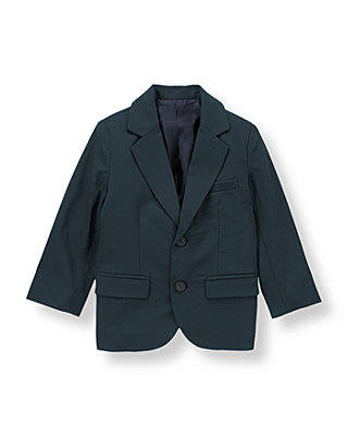 Classic Navy Wool Suit Blazer at JanieandJack