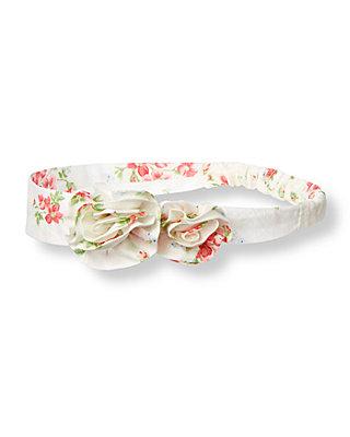 Berry Rose Floral Rosette Floral Headband at JanieandJack