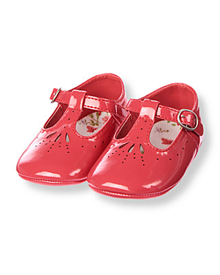 Baby Girl Berry Rose Patent Crib Shoe at JanieandJack
