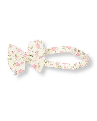 Pink Petal Floral Floral Corduroy Headband at JanieandJack