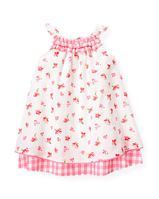 Baby Girl Paradise Pink Floral Floral Swiss Dot Dress at JanieandJack