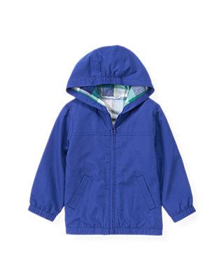 Cobalt Blue Windbreaker Jacket at JanieandJack