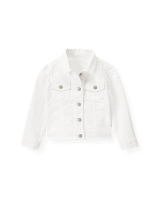 Pure White White Denim Jacket at JanieandJack