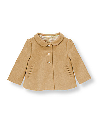 Oatmeal Heather Heathered Coat at JanieandJack
