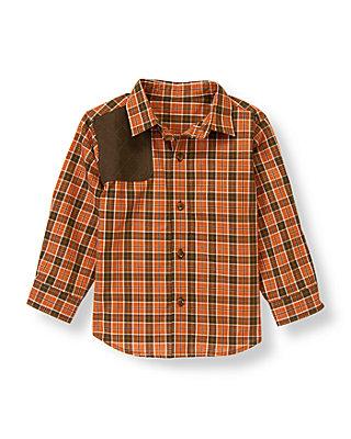 Rust Orange Plaid Plaid Riding Shirt at JanieandJack