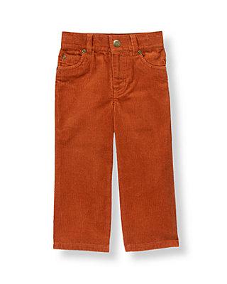 Boys Rust Orange Corduroy Pant at JanieandJack