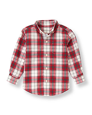 Holiday Red Plaid Plaid Dress Shirt at JanieandJack