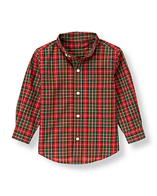 Tartan Red Plaid Tartan Plaid Dress Shirt at JanieandJack