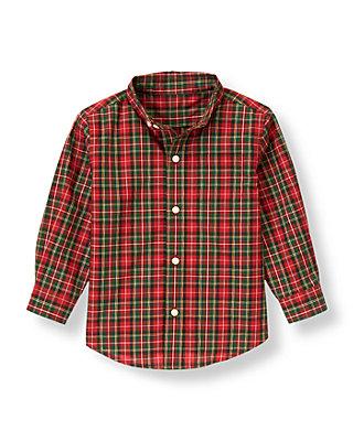 Tartan Red Plaid Tartan Plaid Dress Shirt at JanieandJack