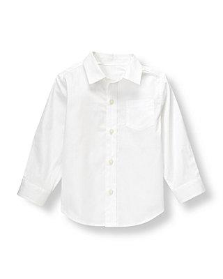 Pure White Dobby Dress Shirt at JanieandJack