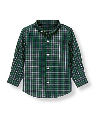 Pine Green Check Checked Shirt at JanieandJack