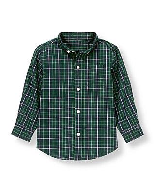 Pine Green Check Checked Shirt at JanieandJack