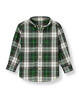 Pine Green Plaid Tartan Shirt at JanieandJack