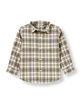 Iceberg Grey Plaid Plaid Shirt at JanieandJack