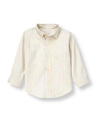 Iceberg Grey Stripe Stripe Dobby Shirt at JanieandJack