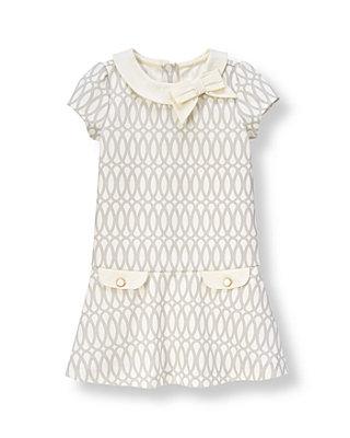 Light Grey Print Geometric Print Ponte Dress at JanieandJack