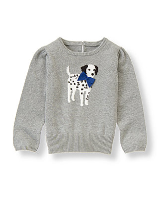 Dark Grey Heather Dalmatian Sweater at JanieandJack