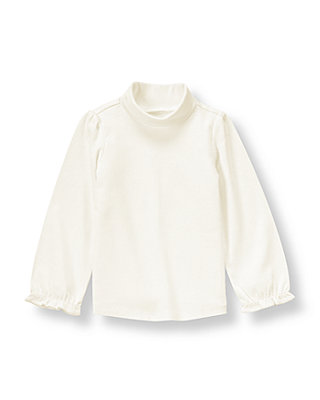 Jet Ivory Turtleneck Top at JanieandJack