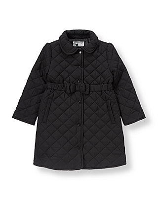 Classic Black Quilted Coat at JanieandJack