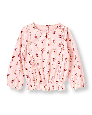Pink Berry Floral Floral Batiste Top at JanieandJack