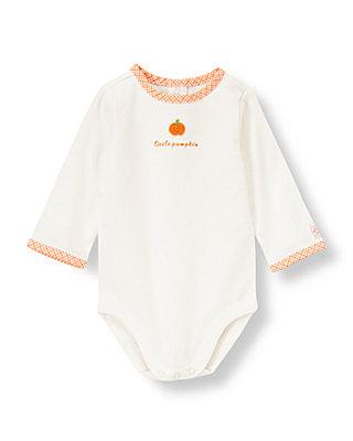 Jet Ivory Little Pumpkin Bodysuit at JanieandJack