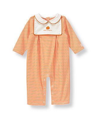Pumpkin Orange Stripe Little Pumpkin One-Piece at JanieandJack