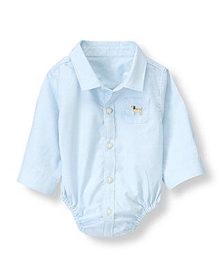 Baby Boy Beagle Blue Beagle Shirt Bodysuit at JanieandJack