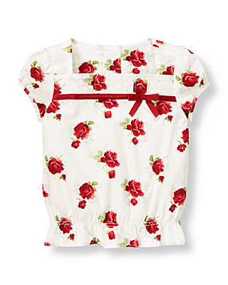 Cranberry Rose Floral Rose Floral Top at JanieandJack