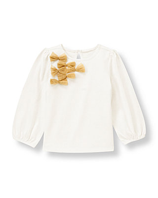 Jet Ivory Tulle Bow Top at JanieandJack