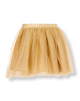 Metallic Gold Metallic Gold Tulle Skirt at JanieandJack