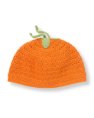 Pumpkin Orange Pumpkin Crochet Beanie at JanieandJack