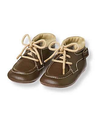 Baby Boy Cocoa Brown Buckle Crib Boot at JanieandJack