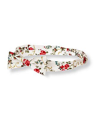 Holiday Rose Floral Rose Floral Silk Headband at JanieandJack