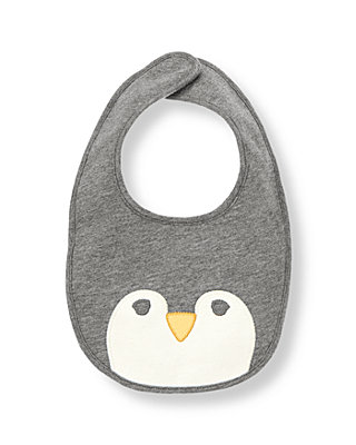 Penguin Grey Penguin Bib at JanieandJack