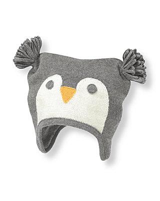 Penguin Grey Penguin Earflap Hat at JanieandJack