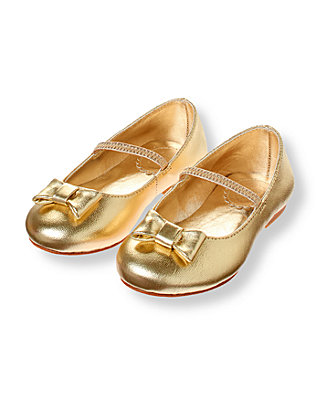 Metallic Gold Metallic Gold Ballet Flat at JanieandJack