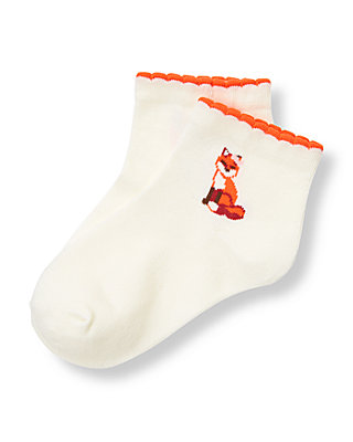 Jet Ivory Fox Sock at JanieandJack