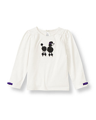 Jet Ivory Poodle Top at JanieandJack