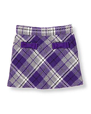 Violet Purple Plaid Bow Pocket Plaid Skirt at JanieandJack