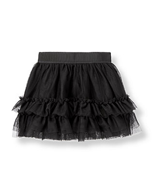 Classic Black Ruffle Tulle Skirt at JanieandJack