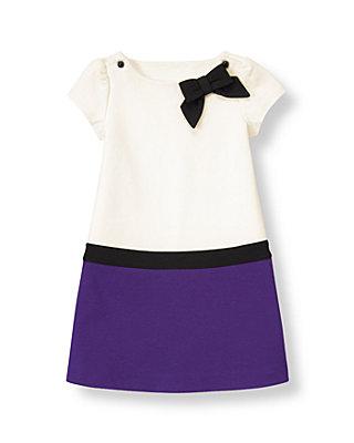 Jet Ivory Colorblock Ponte Dress at JanieandJack